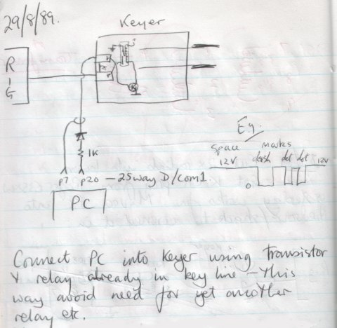 1989 Note book keyer page