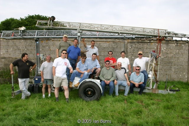 2005 VHF FD group photo by Ian G0AFH