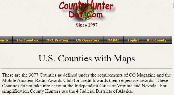 CountyHunters ambiguity over cities